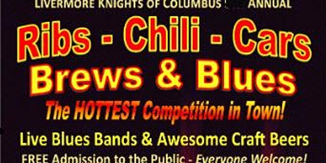 Knights of Columbus 10th Annual Ribs, Chili, Cars, Brews and Blues - CANCELLED tickets