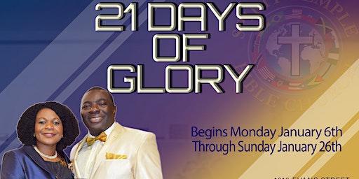 21 Days Of Glory !