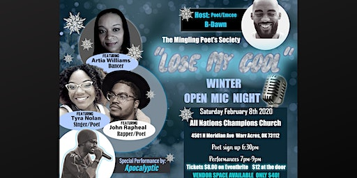 """The Mingling Poet's Society, """"Lose My Cool,""""  Winter Open Mic Night!!"""