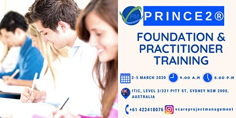 Prince2 Foundation and Practitioner | Course | Exam | March | 2020 | Sydney tickets