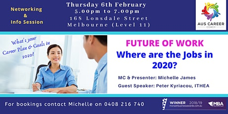 """Future of Work 2020  """"Where are the Jobs?"""" tickets"""