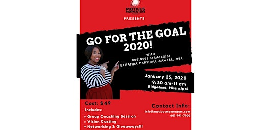 GO FOR THE GOAL 2020!