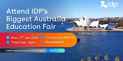 Attend IDP's Australia Education Fair 2020 in Ahmedabad