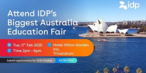 Attend IDP's Australia Education Fair 2020 in Trivandrum