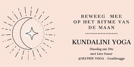 Yoga op het ritme van de maan (Kundalini) met Lies Osaer tickets
