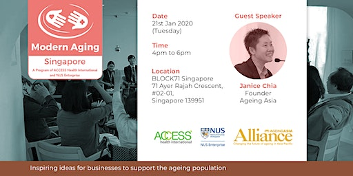 Modern Aging Singapore: AgeingAsia 2020 Networking Session