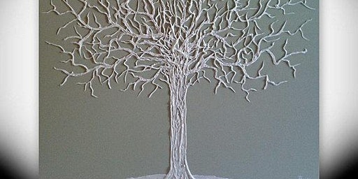 Hot Glue and Acrylic Painting-The Elegant Tree at Soule' Studio