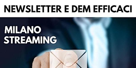 Corso Newsletter e DEM efficaci tickets