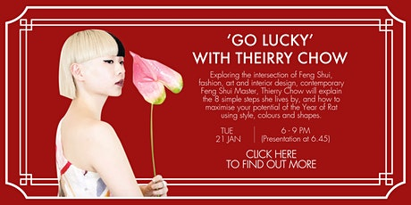HULA Happenings: When Style Meets Feng Shui, 'Go Lucky' with Thierry Chow tickets