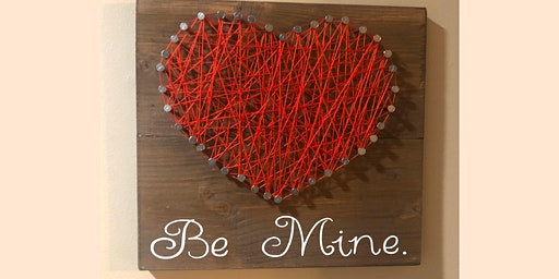 DIY Heart String Art Sign Making Workshop w/ optional vinyl saying!