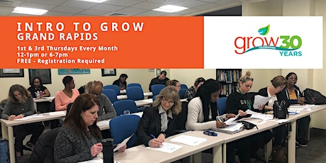 Intro to GROW-Grand Rapids 2/6/20 @ 12:00 pm tickets