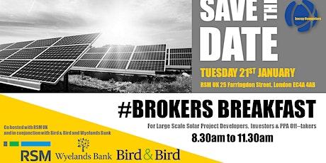 Brokers Breakfast - Smart Energy Projects tickets