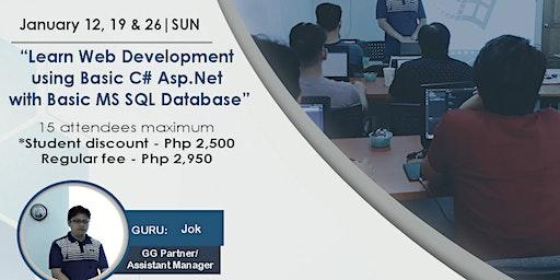 Learn Web Development using Basic C# Asp.Net with Basic MS SQL Database