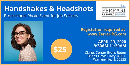 Handshakes & Headshots: Get your Professional Photo!