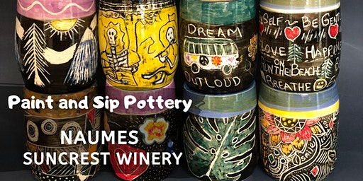 Paint and Sip Pottery at Naumes Suncrest Winery!