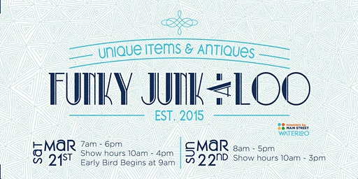 Funky Junk-a-Loo EARLY BIRD VIP 2020