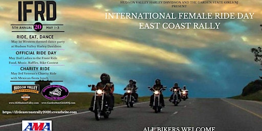 INTERNATIONAL FEMALE RIDE DAY!   East Coast Rally May 1-3, 2020