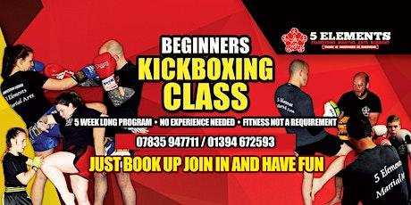 5 week Beginners kickboxing course tickets