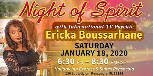 January A Night of Spirit with International TV Psychic Medium Ericka Boussarhane