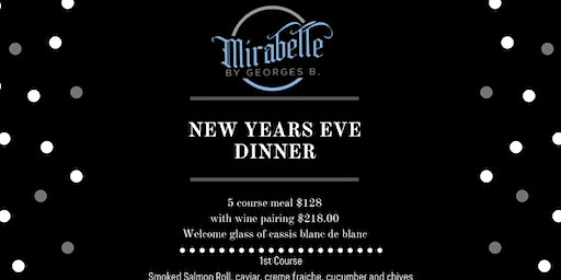 New Years Eve at Mirabelle