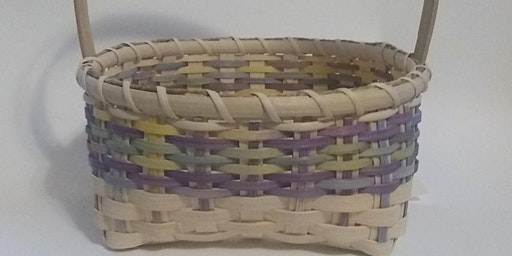 Weaving an Easter basket