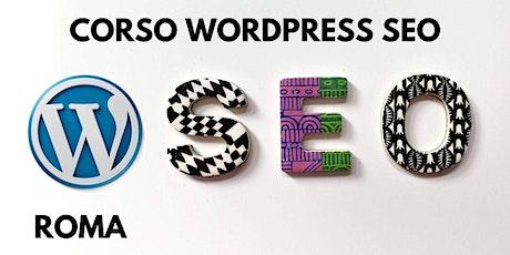 Corso WordPress SEO a Roma biglietti
