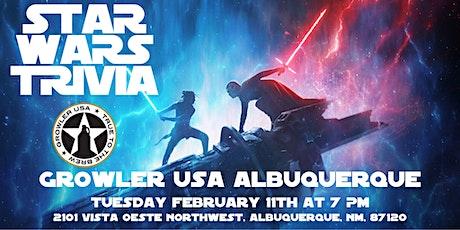 Star Wars Trivia at Growler USA Albuquerque tickets