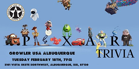 Disney Pixar Movie Trivia at Growler USA Albuquerque tickets
