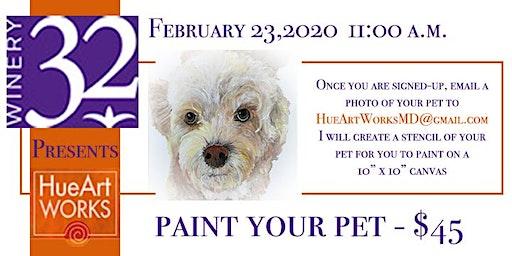 Winery 32 Sip & Paint - Paint Your Pet!