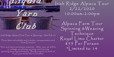 Liquid Yarn Club Irish Ridge Alpaca Outing tickets