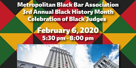 MBBA 3rd Annual Black History Month Celebration for Black Judges! tickets