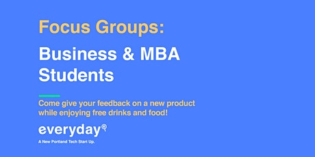 Focus Groups: MBA Students tickets