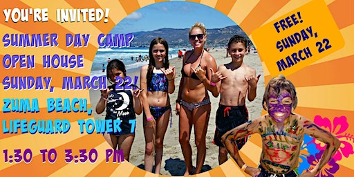 Aloha Beach Camp Open House at Zuma Beach