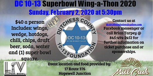 DC 10-13 Superbowl Wing-a-thon 2020