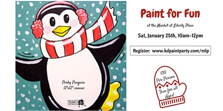Perky Penguin - Paint for Fun - Market at Liberty Place - 1/25 tickets