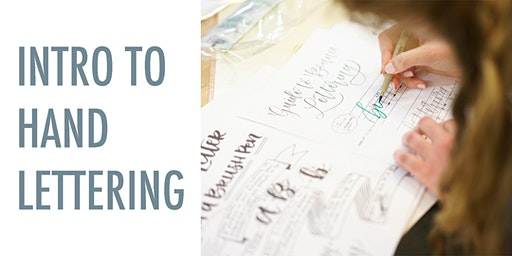 Intro to Hand Lettering at Caboose Commons