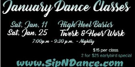 January SipNDance Classes tickets