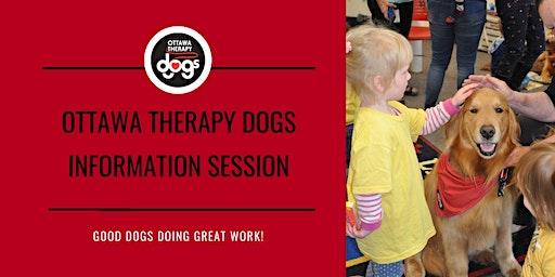Ottawa Therapy Dogs Information Session -- Monday, January 20, 2020