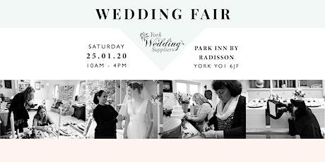 Wedding Fair York-Park Inn-Sat 25th Jan 2020- York Wedding Suppliers- WMB tickets