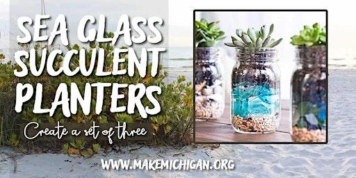 Sea Glass Succulent Planters - Hudsonville