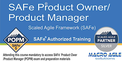 SAFe 5.0 Product Owner/Product Manager with Certification