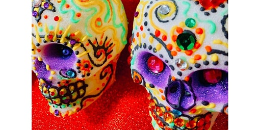 Unique! One of few in USA! Mexican Sugar Skull making art class! Hosted by acclaimed artist Diego Marcial Rios! (10-12-2020 starts at 11:00 AM)