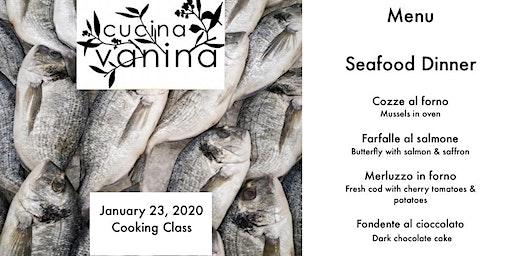 Cooking with Cucina Vanina Seafood Dinner