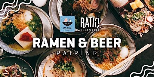 SOLD OUT - Ramen & Ratio Flight Pairings with Ratio Beerworks & Osaka Ramen