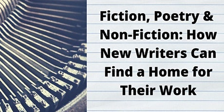 Fiction, Poetry & Non-Fiction: A Workshop for New Writers tickets
