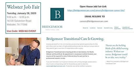 Bridgemoor Transitional Care - Open House Job Fair - HOUSTON, TX tickets