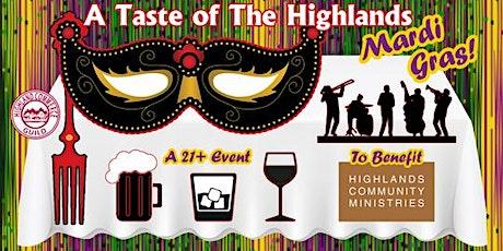 A Taste of The Highlands, Mardi Gras! 2020 tickets