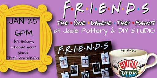 FRIENDS PARTY! (the one where they paint)