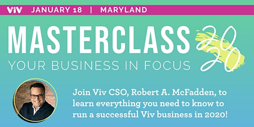MASTERCLASS 2020: Your Business In Focus! - Baltimore, MD