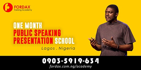ONE MONTH Public speaking And Presentation Classes in Lagos tickets